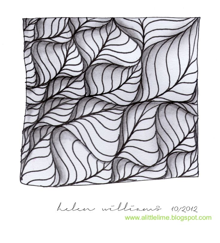 """One of my favorite Zentangle artists, and an absolutely beautiful tangle. Video demonstration of """"Leaflet"""". a little lime: leaflet - video & variation"""