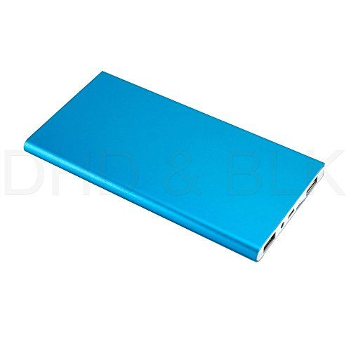 #US Stock Blue Ultra Thin 20000mAh Portable External Battery Charger Power Bank for Cell Phone
