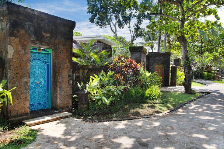 The Royal Beach Seminyak, Bali. Variegated alpinia, Iris, Croton & Diffenbachia.