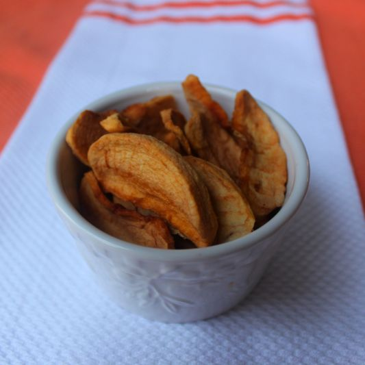 Dehydrated Apples: Make a batch of these dehydrated apple slices for your next on-the-go snack. Dehydrating your own fruit doesn't involve any expensive equipment; just turn your oven to a low temp, and bake away!