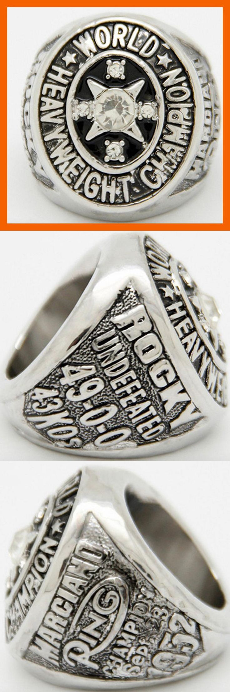 [Visit to Buy] 2015 New Design Replication 1952 Rocky Marciano Heavyweight Boxing Championship Rings Men Jewelry #Advertisement