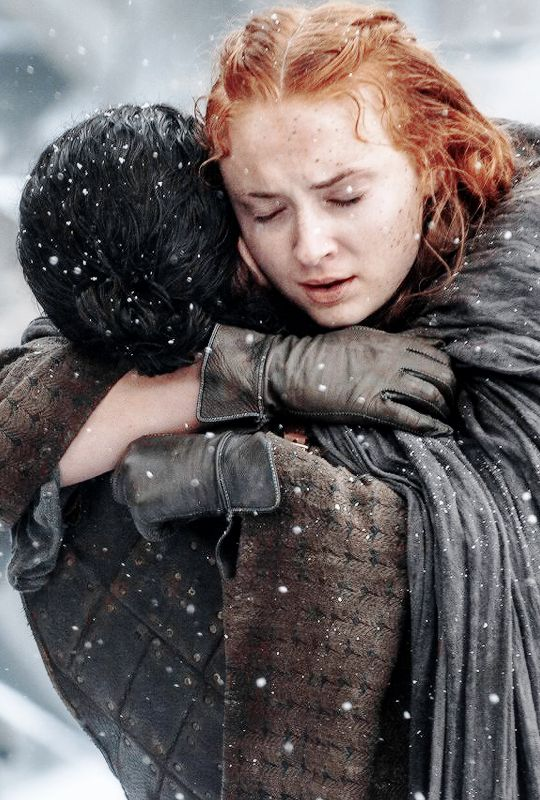 "♕ Jon and Sansa in Game of Thrones 6.04 ""Book of the Stranger"" ©"