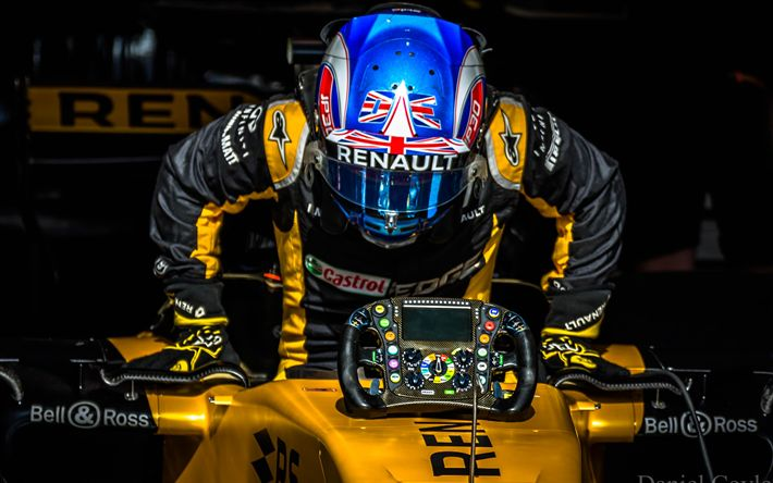Download wallpapers Jolyon Palmer, 4k, Formula 1, British racing driver, Renault RS17, Renault F1 Team