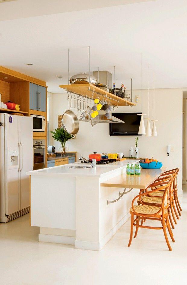 cozinha; Hb Arquitetos; André Hauser e Aline Biaggi (Foto: Edu Castello/Editora Globo)