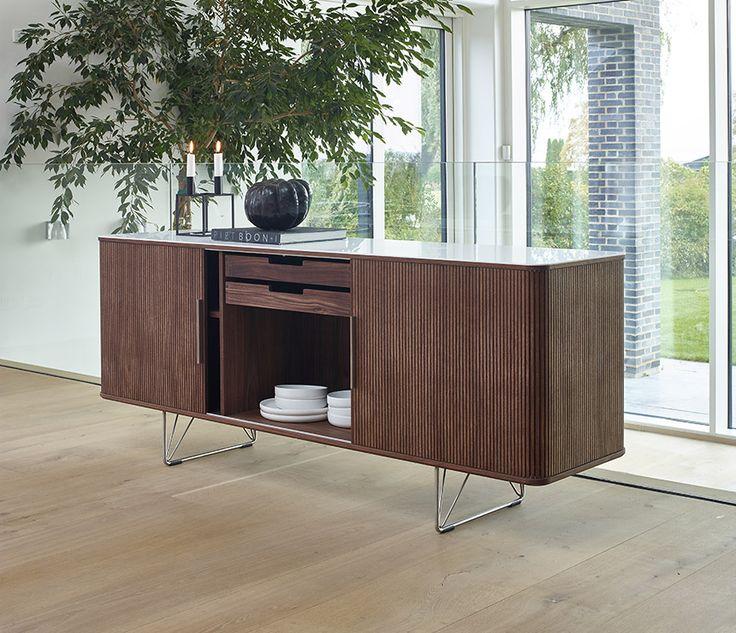 Wharfside Furniture | DM2730 - tambour door cabinet | designed by Danish Modern