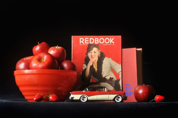 """""""Redbook with 1956 Buick Roadmaster,"""" Archival Digital Color Print, 11 x 14 inches"""