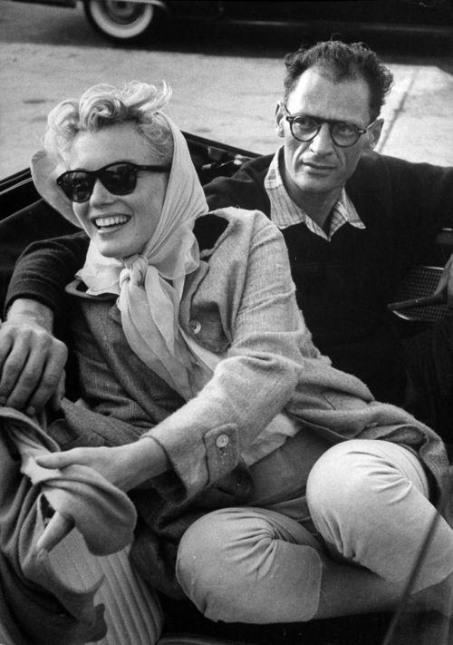 American Casual. Arthur Miller and Marilyn Monroe, 1956.