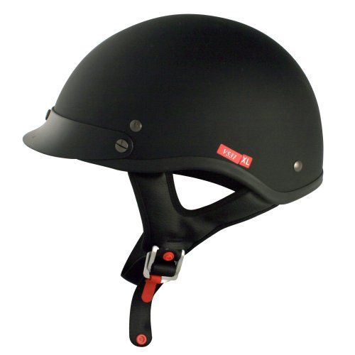 VCAN V531Cruiser Solid Flat Black Small Half Helmet. For product info go to:  https://www.caraccessoriesonlinemarket.com/vcan-v531cruiser-solid-flat-black-small-half-helmet/
