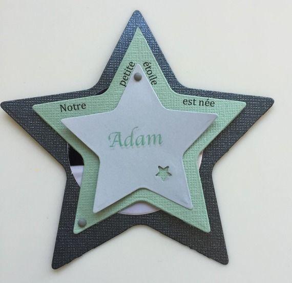 Faire-part de naissance étoile (prix dégressifs)