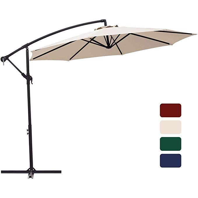 Amazon Com Patio Umbrella 10 Ft Cantilever Offset Umbrella Outdoor Market Hanging Umbrellas Garden Umbrella Offset Umbrella Patio Umbrella Garden Umbrella