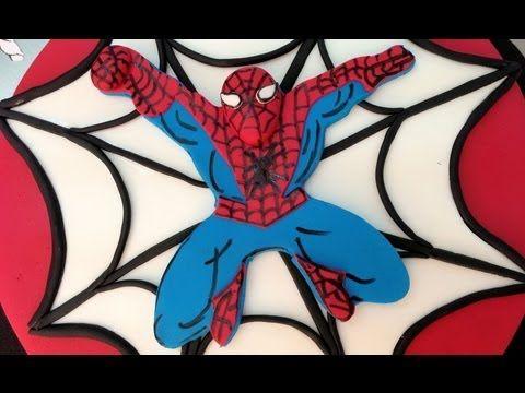 Tarta de Spiderman con masa elástica o fondant