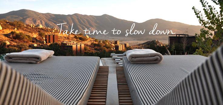 """Take time to slow down."""