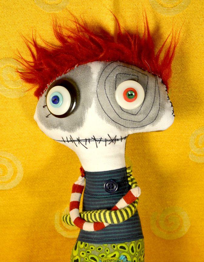 Diane Slagle monster doll Nov. 2012 - Redhead