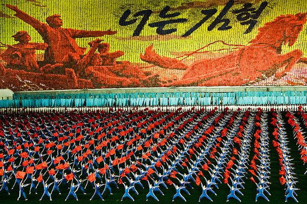 over 100,000 gymnasts and performers work meticulously together at the North Korean Mass Games