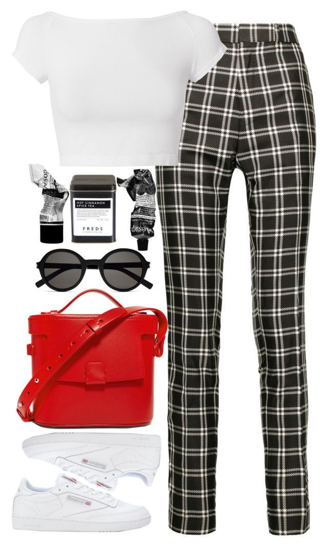 """Untitled #711"" by lindsjayne ❤ liked on Polyvore featuring Haider Ackermann, Helmut Lang, Reebok, Yves Saint Laurent, Aesop, FREDS at Barneys New York and Nico Giani"
