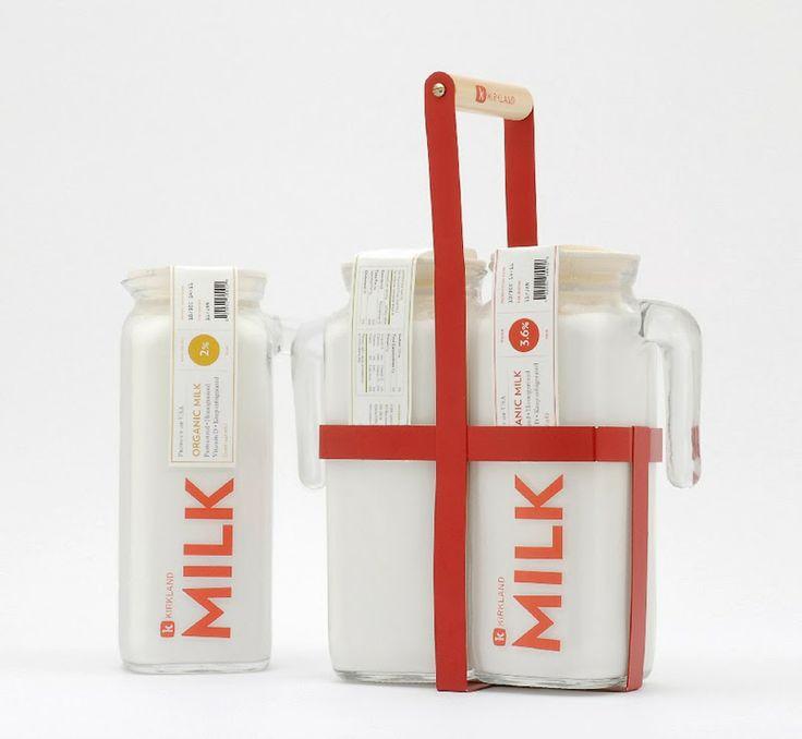 Los mejores diseños de packaging para leche: Trabajo de estudiante Spotlight, Kirkland Brand, Kristopher Leigh, Woorim Choi, Anna Bazarnaya, EUA