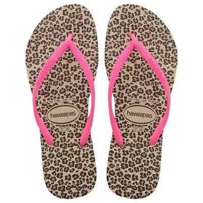 Havaianas Slim Animals Sand Grey/Pink flip flops  Price From: 22,98$CA