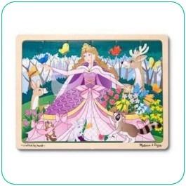Melissa Woodland Princess 24 pieces Wooden Jigsaw Puzzle - Kids Toys from MetroMum.com.au