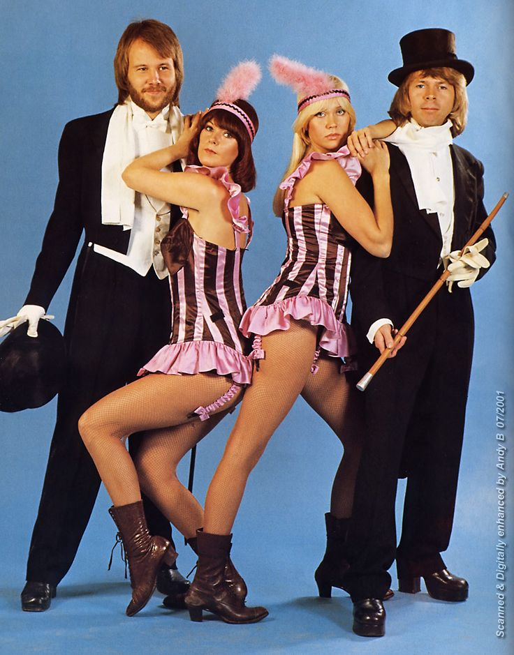 Abba with Agnetha dressed for a show!
