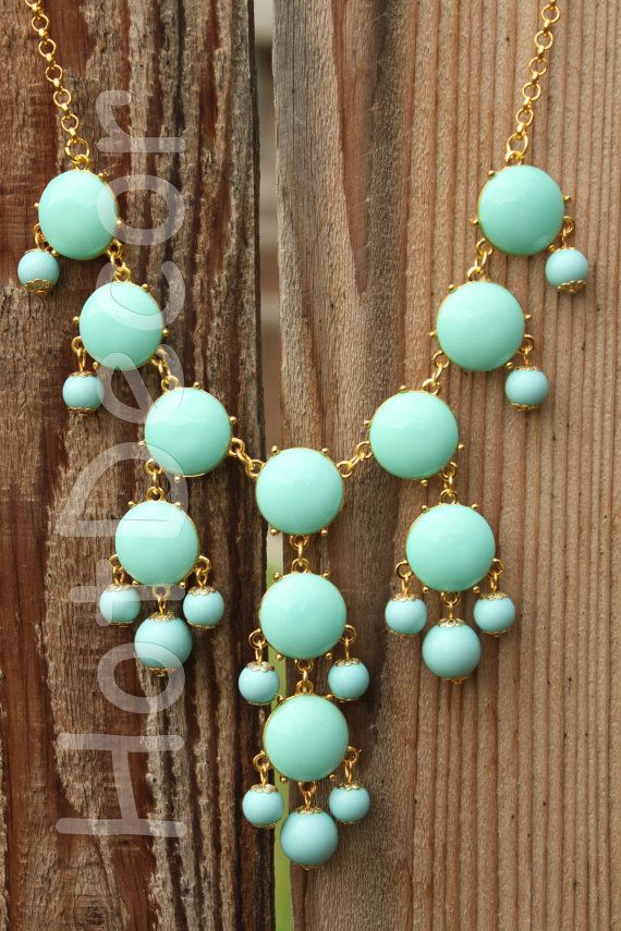 20mm mini Turquoise Bubble necklaces jewelry Jcrew by HotDecor, $12.99