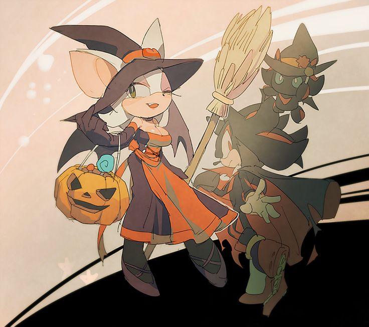 Halloween! by aoki6311.deviantart.com on @deviantART  Shadow and Rouge