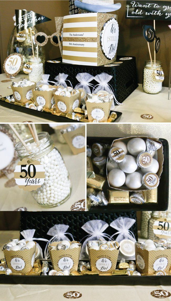 50th Wedding Anniversary Party Ideas Golden Anniversary Party
