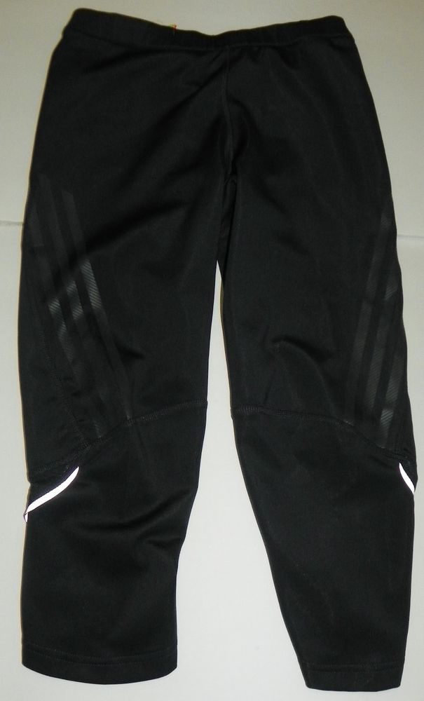 aedb16f61 Adidas Supernova Cropped Capri Workout Athletic Pants Small Black Gray  Running #adidas #AthleticPants