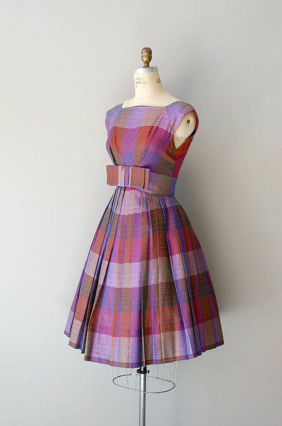 1950s dress / plaid 50s dress / Trillby Plaid dress. $94.00, via Etsy. | DearGolden