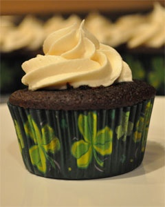 guiness and bailey's cupcake