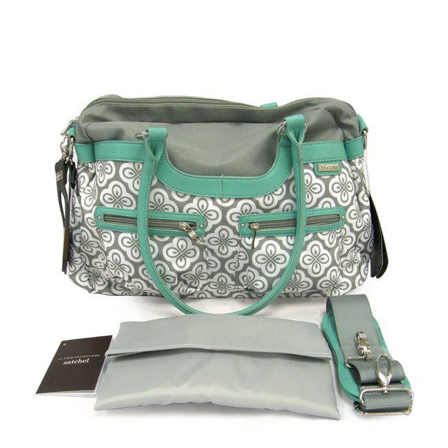 jj cole collections satchel diaper bag azure infinity designer diaper bag. Black Bedroom Furniture Sets. Home Design Ideas
