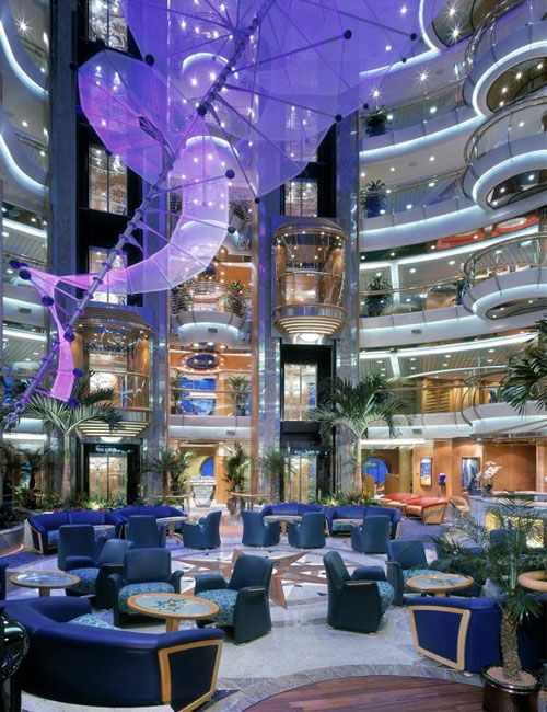 First ship Ed and I sailed on. The ship that started it all. Royal Caribbean Jewel of the Seas, atrium