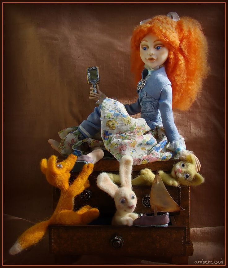 Иришечка или Похищение туфелек. *** doll, dollart, hand made, ©ambercloud, авторская кукла