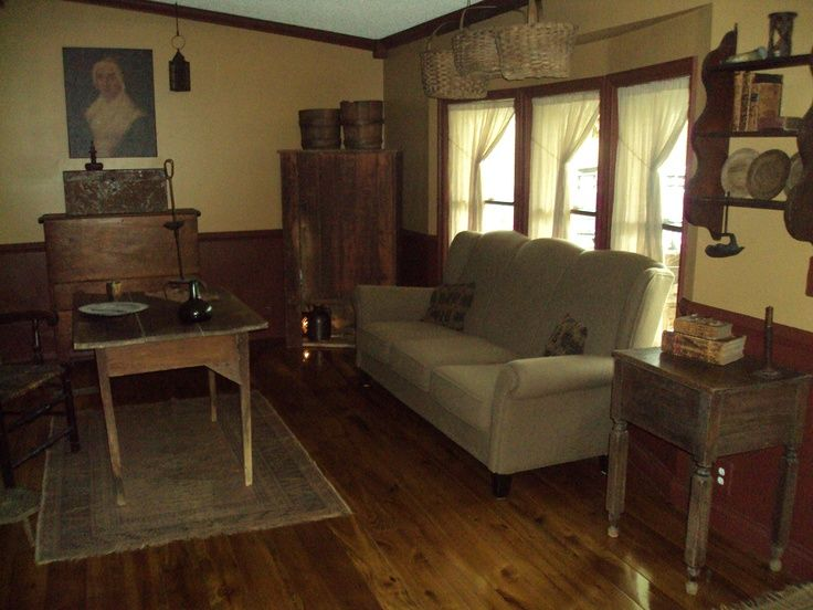 Primitive living room primitive living rooms couch for Primitive living room ideas