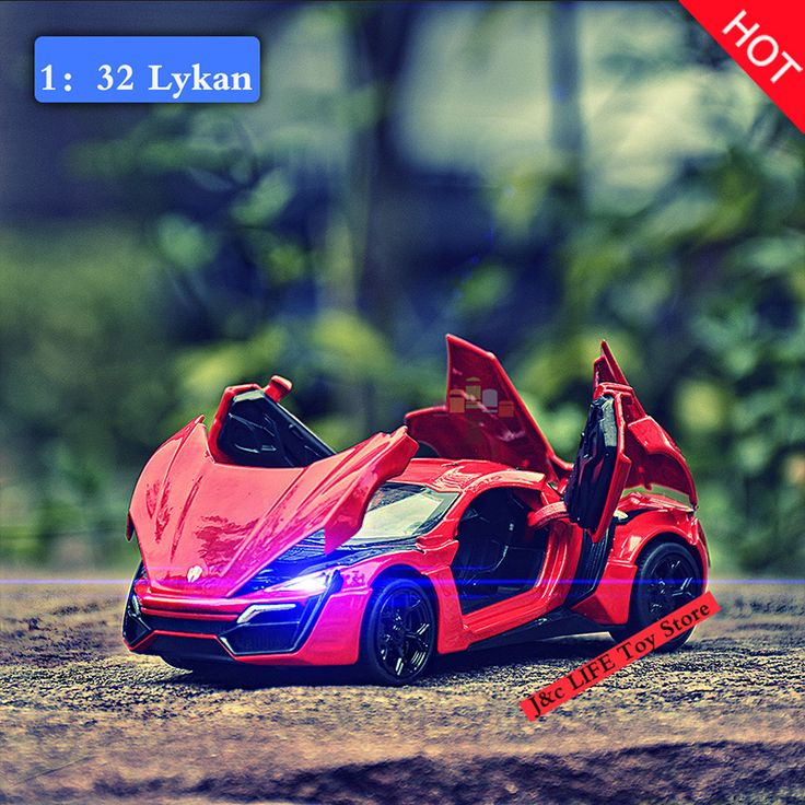 Hot 1:32 Fast & Furious Lykan Alloy Diecast Car Model Pull Back Toy Cars Electronic Car with light&sound Kids Toys for Children