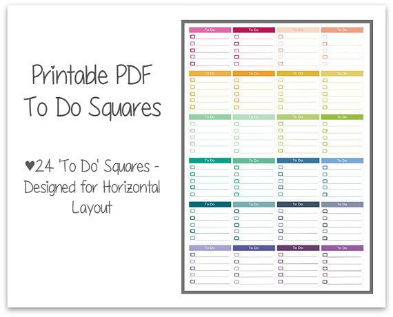To Do Sticker Set | Printable Life Planner Stickers | Perfect for Horizontal Erin Condren Planners
