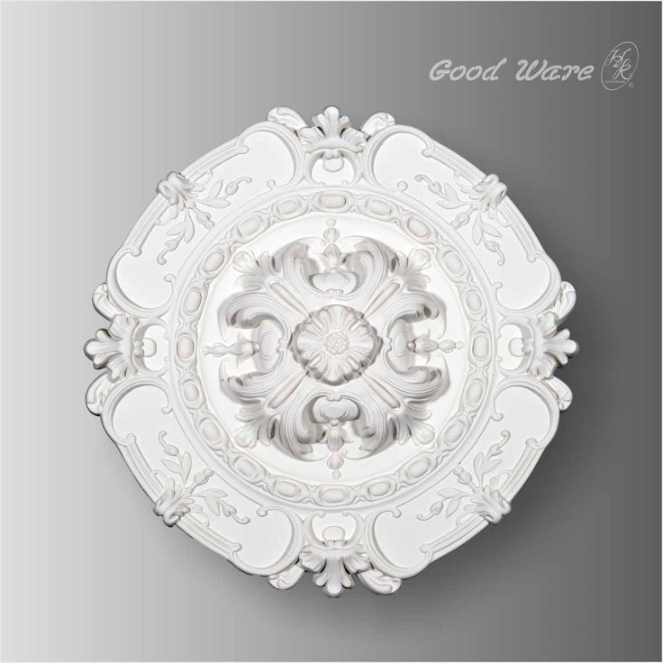 Polyurethane Mediterranean ceiling medallions for sale. This ceiling medallion introduces round shape with a dimensional flower circle in the middle.