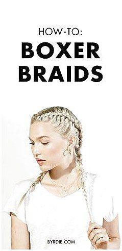 How to boxer braid your own hair #MediumHairBraidi…