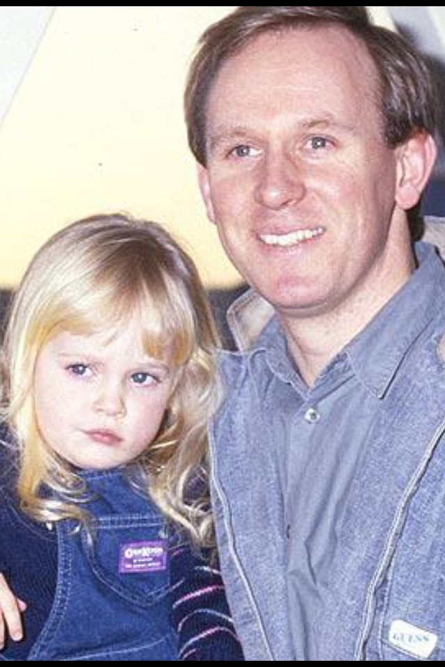 Peter Davison with the future Mrs David Tennant ~ lucky little chit