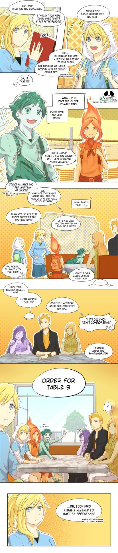 THIS SERIES IS READ FROM LEFT TO RIGHT Adventure Time © Pendleton Ward AT Ask-Away!Katkat-Tan FCTumblrFacebook It feels so good to f...