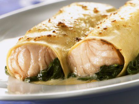 Cannelloni mit Lachs-Spinat-Füllung – AniFil