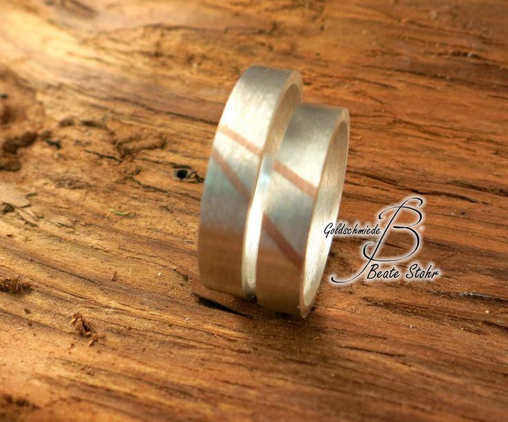 Trauringe bicolor Silber