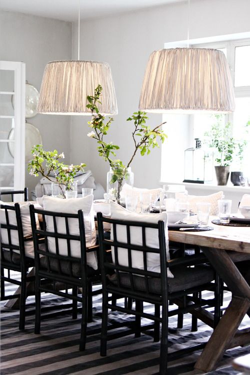: Dining Rooms, Idea, Lamps Shades, Decoration, Chairs, Lighting Fixtures, House, Farms Tables, Dining Tables