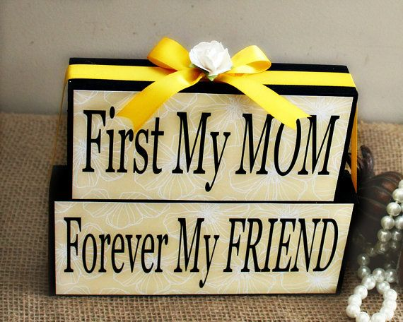 First My Mom Forever My Friend  Gifts for Her  by TimelessNotion