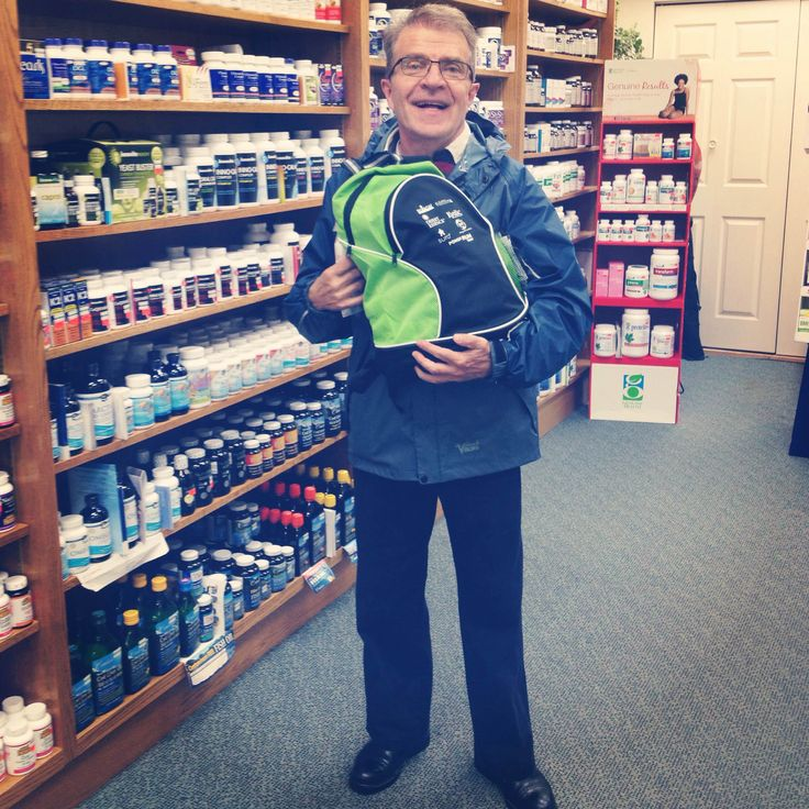 Congratulations Thomas at our Brampton location on winning a back-pack full of #healthy products including #snacks, #vitamins, #treats and more. #ihearthoopers #healthylifestyle #natural #supplements #pharmacy