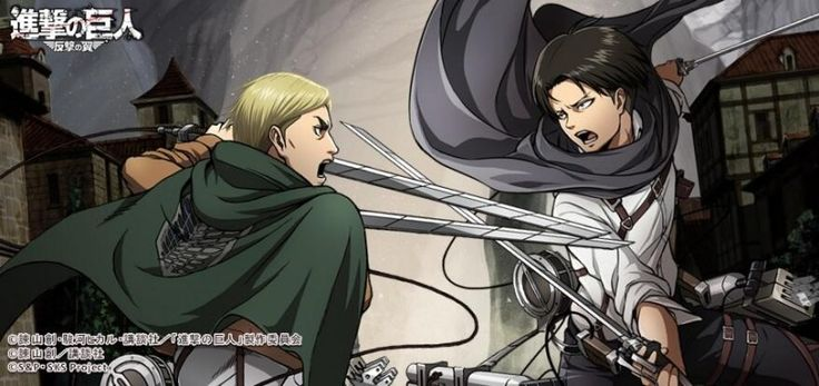 Erwin fighting against young adult teenage Levi Ackerman in the underground