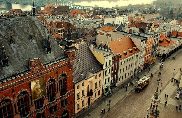 Torun, old town, view from tower, Poland by Agnieszka Kedzierska