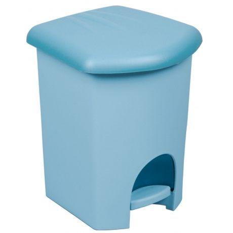 Plastikowy kosz na śmieci z pedałem PLAST TEAM NIEBIESKI 16 l
