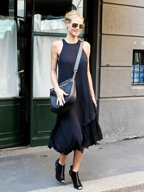 Heidi Klum's Secret to Wearing All Black (Without Looking ...
