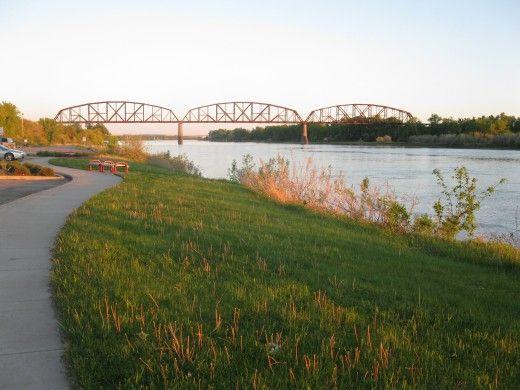 Bismarck, North Dakota along the Missouri River