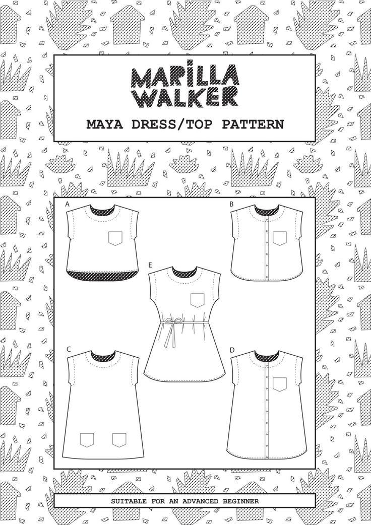 PDF Maya dress and top sewing pattern by MarillaWalker on Etsy https://www.etsy.com/uk/listing/206020747/pdf-maya-dress-and-top-sewing-pattern